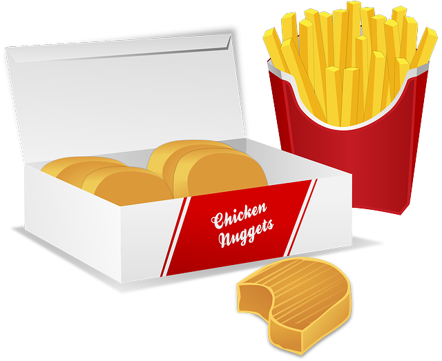 Chicken Nuggets Pommes Fast Food