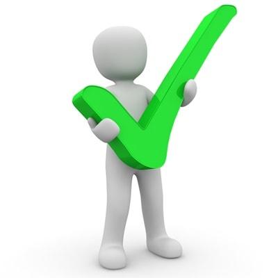 Vorteilhaft Gefallen Grüner Haken Positiv